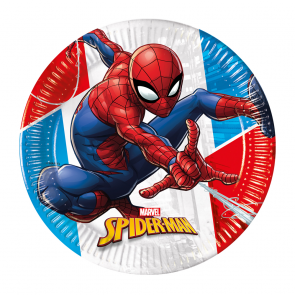 8 Paper Plates 20cm - Spiderman Super Hero - Compostable FSC