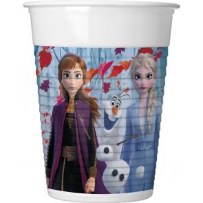 8 Plastic Cups 200ml  - Frozen 2