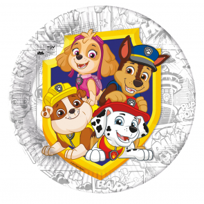 8 Paper Plates 23cm - Paw Patrol Yelp for Action - Compostable FSC