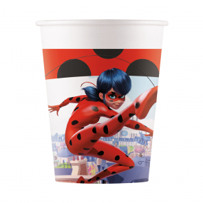 8 Paper cups 200ml - Miraculous Ladybug - Compostable FSC