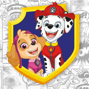20 Three-Ply Paper Napkins 33x33cm - Pawpatrol - Compostable