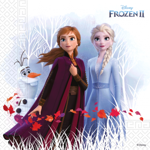 20 Three-Ply Paper Napkins 33x33cm - Frozen 2 Destiny Awaits - Compostable +  FSC