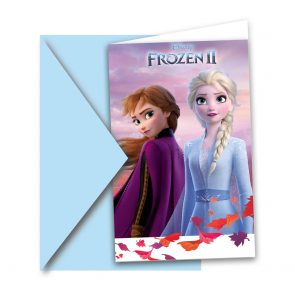 6 Invitations & Envelopes - Frozen 2