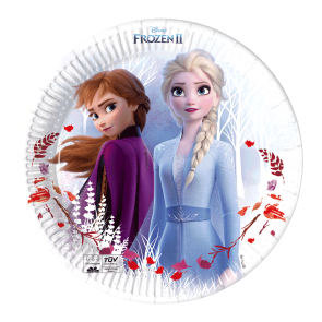 8 Paper Plates 20cm - Frozen 2 Destiny Awaits - Compostable + FSC