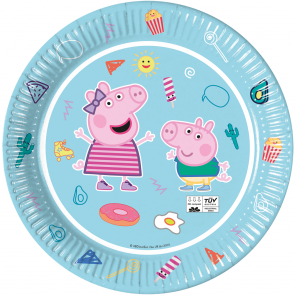 8 Paper Plates 23cm - Peppa Pig Star Shine - Compostable FSC