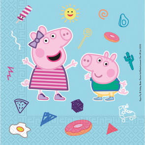 20 Three-Ply Paper Napkins 33x33cm - Peppa Pig Star Shine - Compostable