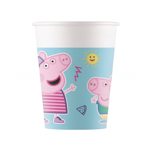 8 Paper cups 200ml -Peppa Pig Star Shine - Compostable FSC