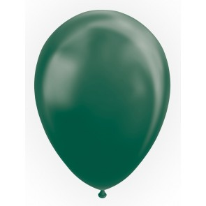 "25 Balloons 12"" metallic green"