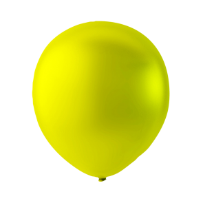 100 balloons metallic, 9'' - metallic yellow