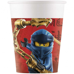 8 Paper cups 200ml - Lego Ninjago - Compostable FSC