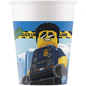8 Paper cups 200ml - Lego City - Compostable FSC