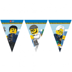 1 Triangle Flag Banner (9 Flags) - Lego City - FSC