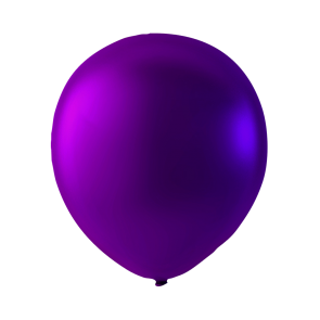 100 balloons metallic, 9'' - metallic purple