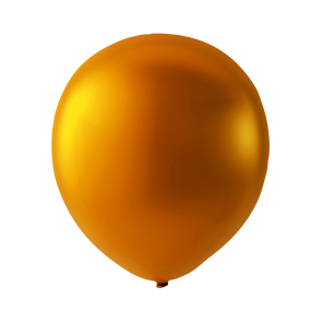 100 balloons metallic, 9'' - metallic orange