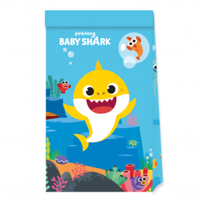 4 Paper Party Bags - Baby Shark - FSC