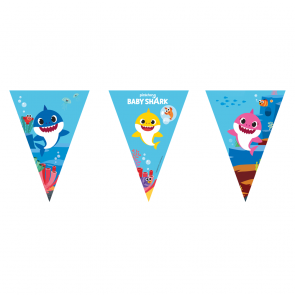 1 Triangle Flag Banner (9 Flags) - Baby Shark - FSC