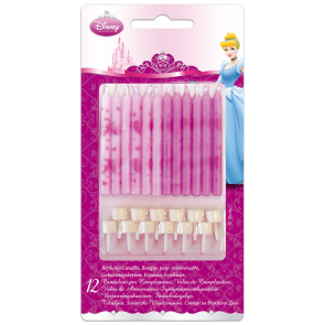 12 candles & 12 holders Birthday Candles  - Princess Dreaming