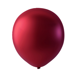 100 balloons metallic, 9'' - metallic cherry red
