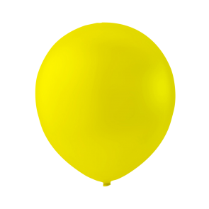 100 balloons, 9'' - yellow (crystal)