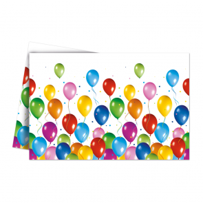 1 Plastic Tablecover 120x180cm - Balloons Fiesta