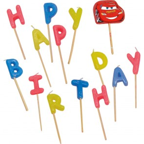 Happy Birthday Toothpick Candles  - Cars