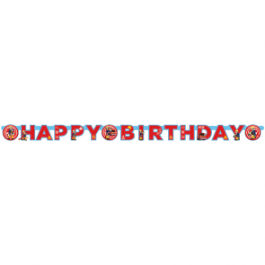 """Happy Birthday"" Die-cut Banner - Fireman Sam"