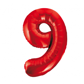 "Foilballoon No. 9, 34"" - red"