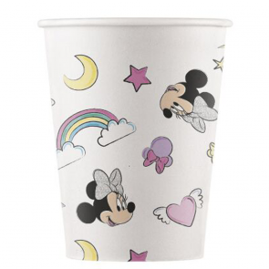 8 Compostable Paper cups 200ml - Minnie Unicorn