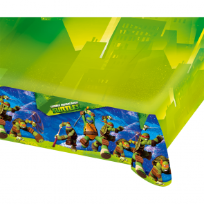 Plastic Tablecover 120x180cm - Ninja Turtles