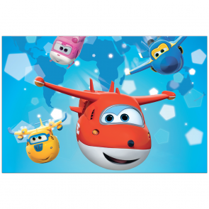 Plastic Tablecover 120x180cm - Super Wings