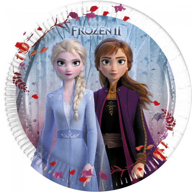 Pack of 8 Sofia The First 20 cm Paper Plates Disney Party Tableware
